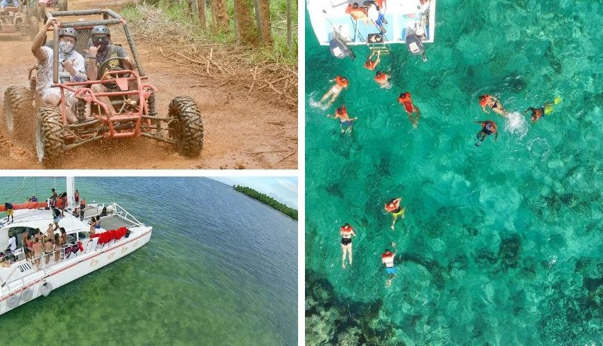 Dune Buggy, Party Boat & Snorkeling Combo